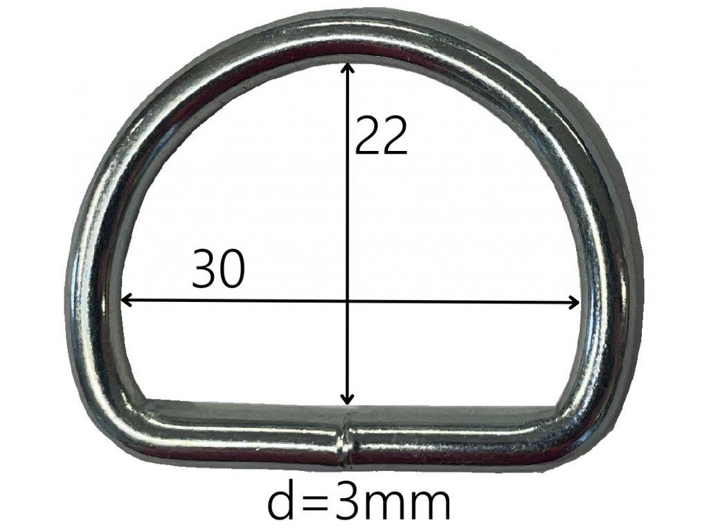 Polokroužek š = 27, v = 26 mm pozinkovaný
