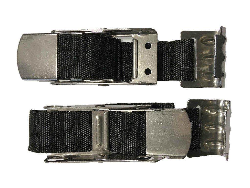 Napínací přezka plachty nerez přes mrtvý bod s řemenem 45mm, hák-plech nerez