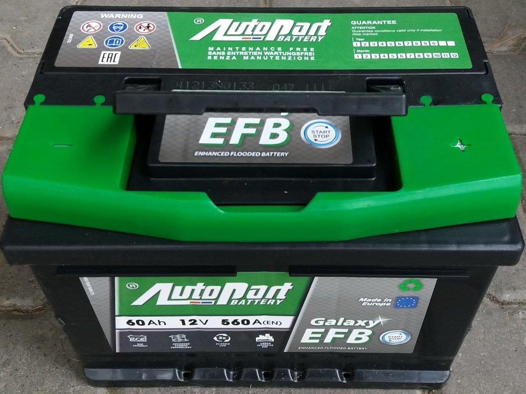 Baterie Galaxy EFB 12V60Ah