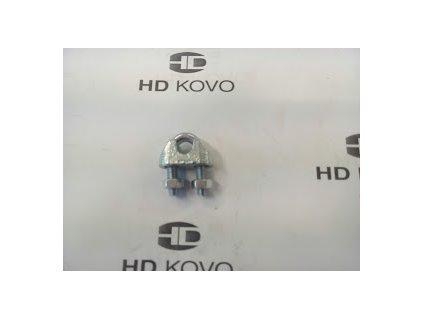 Lanová svorka-zajištění očka lana d=6mm
