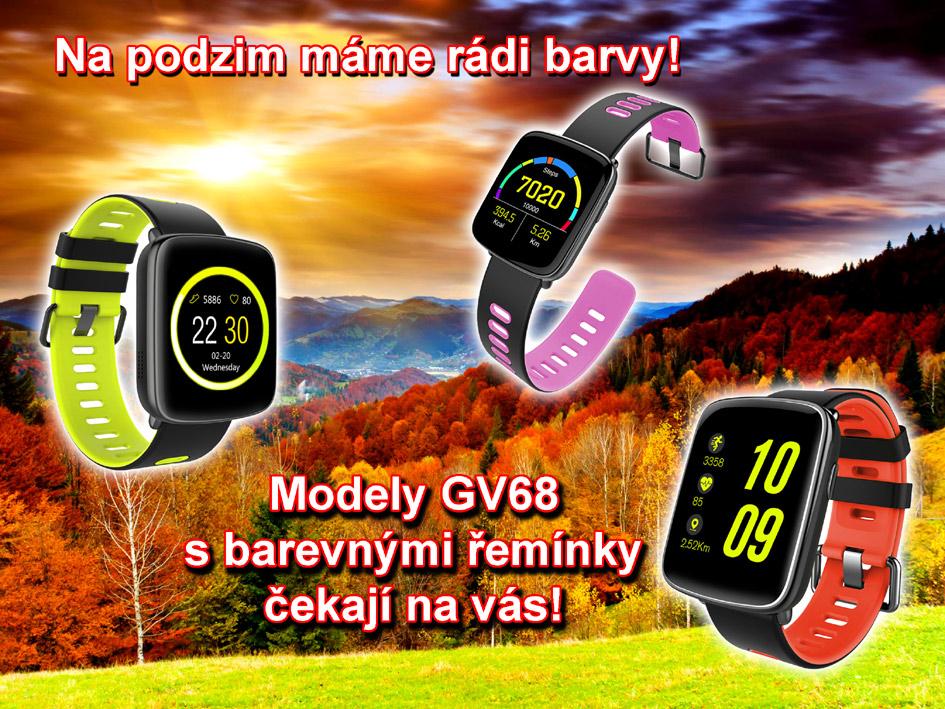 GV68 - zajímavé hodinky s barevným páskem