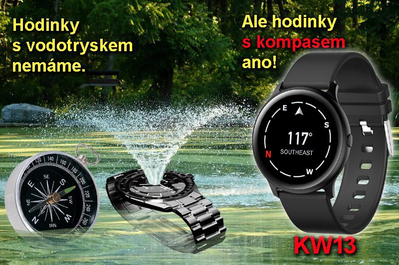hodinky s vodotryskem ne, hodinky s kompasem ano: KW13