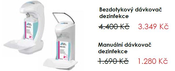 Akční nabídka na dávkovače dezinfekce