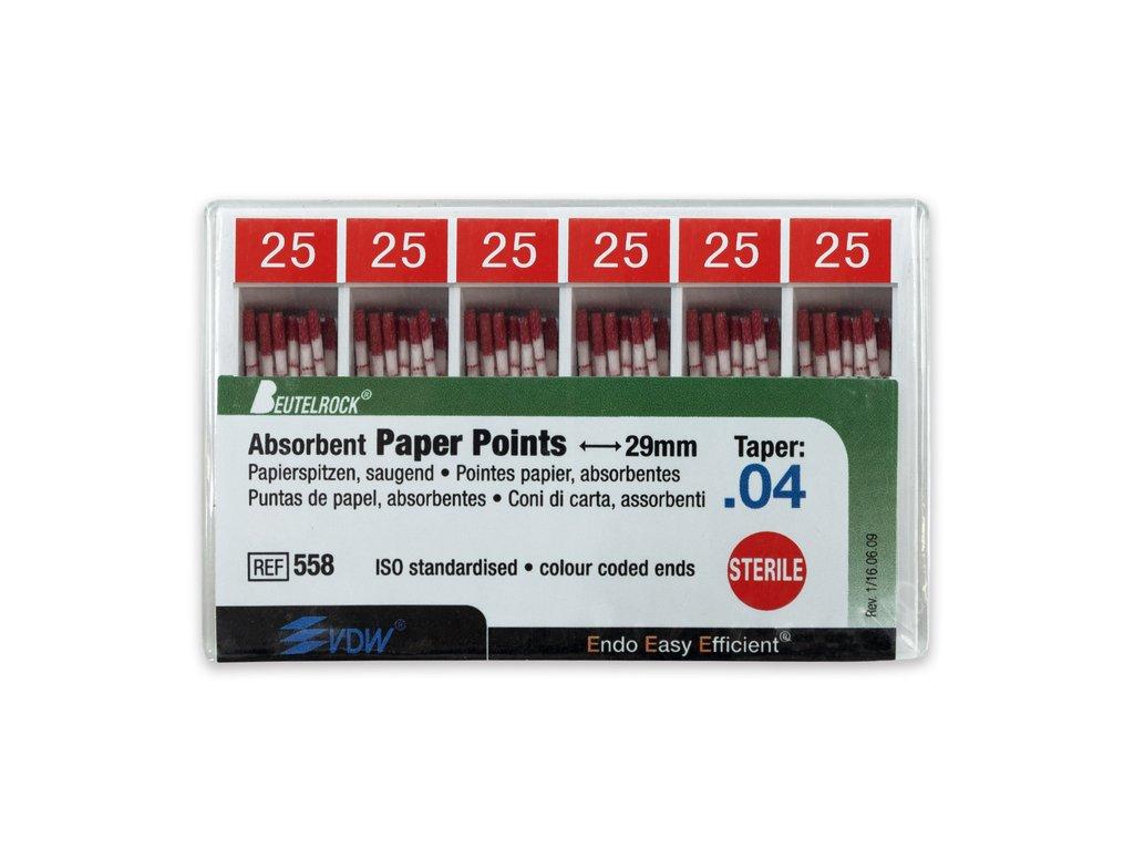 Papírové čepy 4% vel.025, 120ks