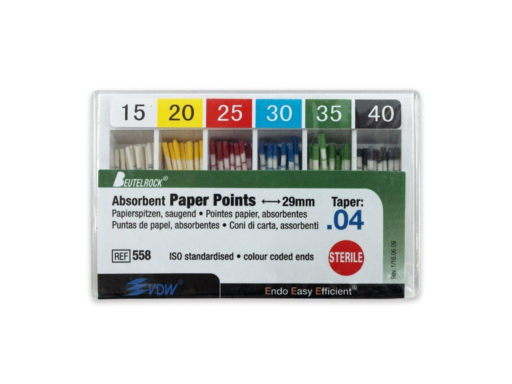 Papírové čepy 4% sada, 120ks