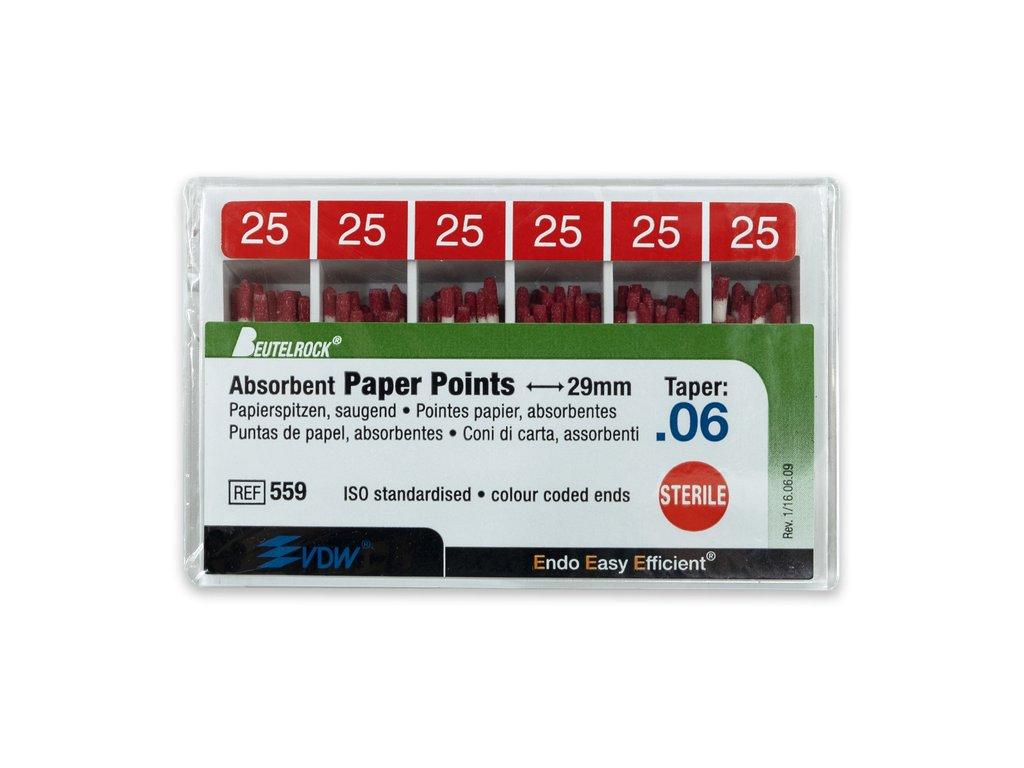 Papírové čepy 6% vel.025, 120ks