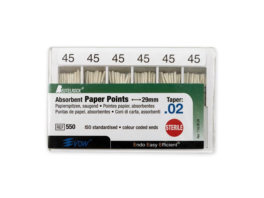 Papírové čepy 2% vel.045, 200ks