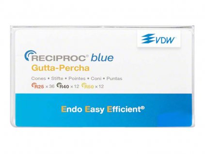 Reciproc blue gutaperčové čepy 040, 60ks