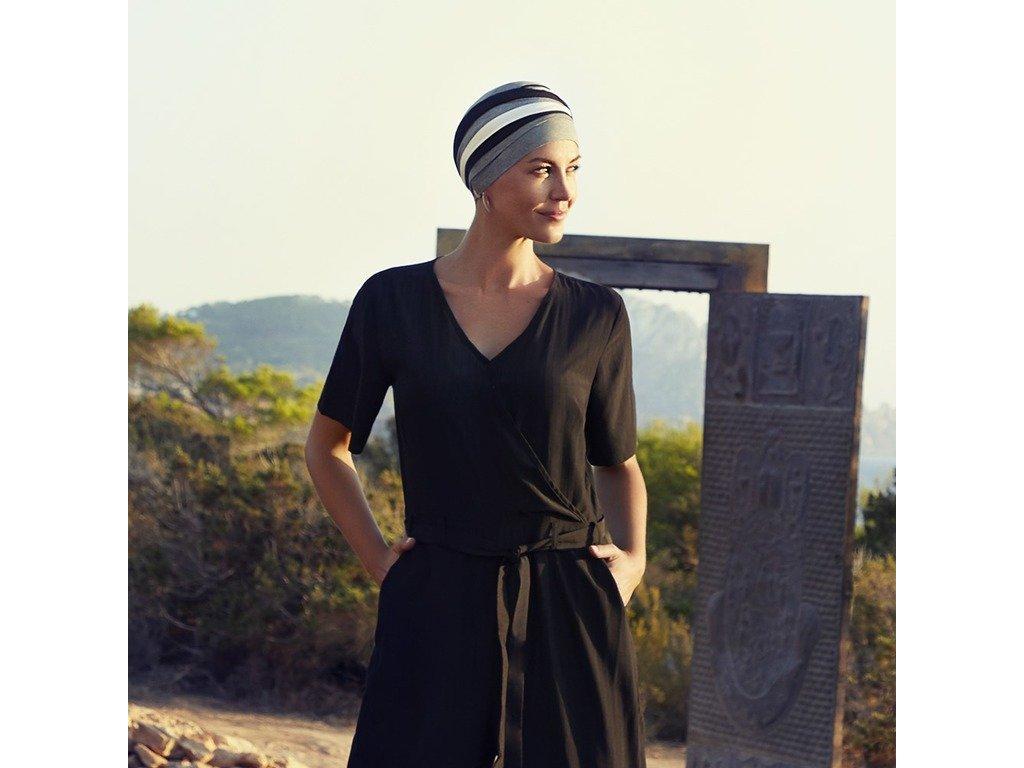 Turban Christine Shanti, vzor Mixed colours