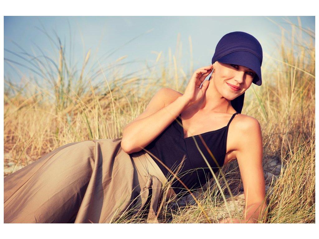 Šátek Christine Bianca, vzor Dark blue
