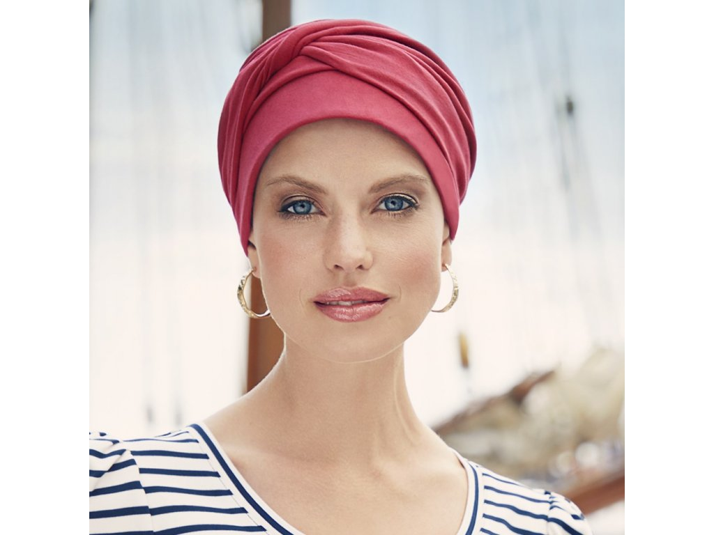 Turban Christine Mila, vzor Lipstick Red