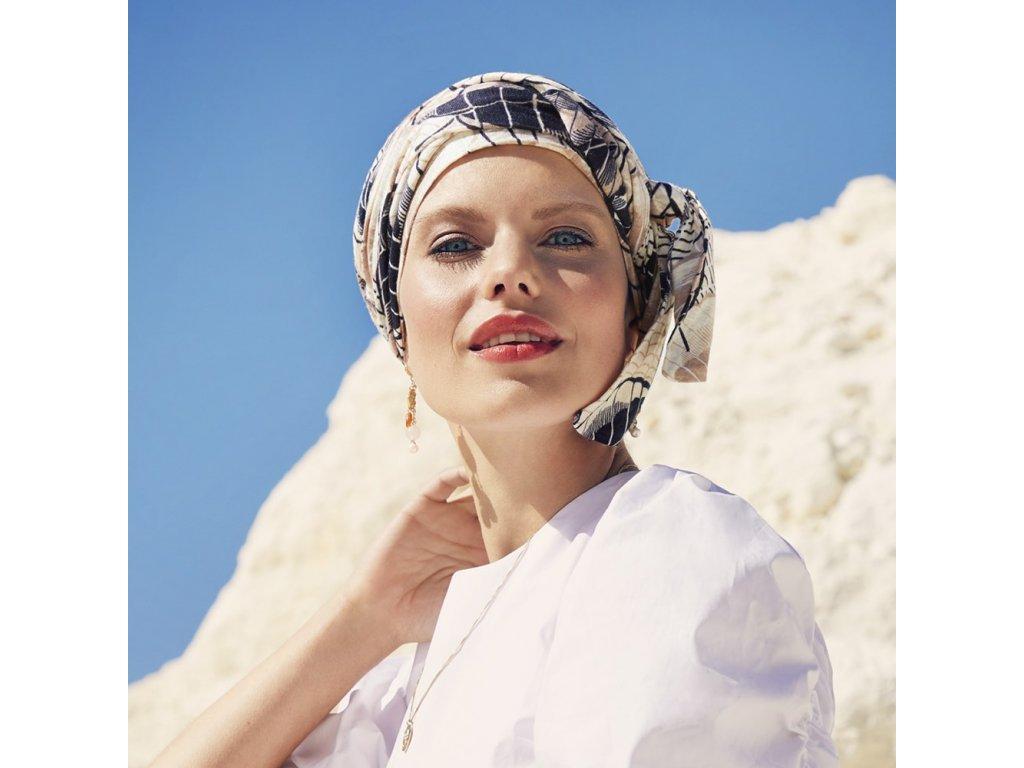 Turban Christine Beatrice, vzor Caramel Dreams