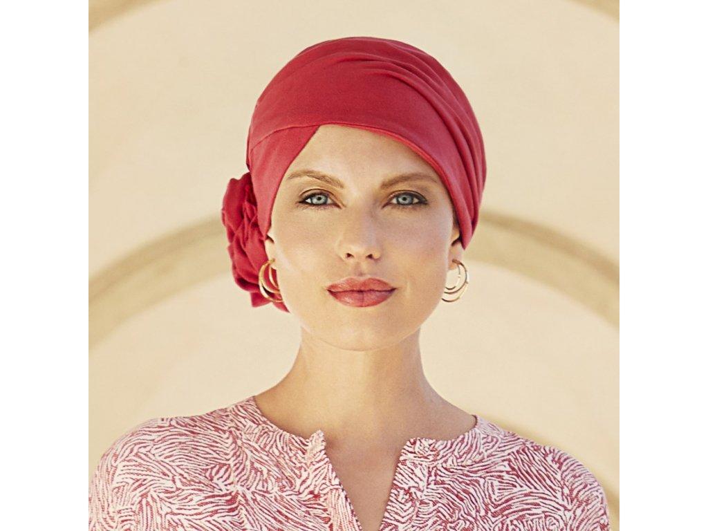 Turban Christine Zuri, vzor Lipstick Red