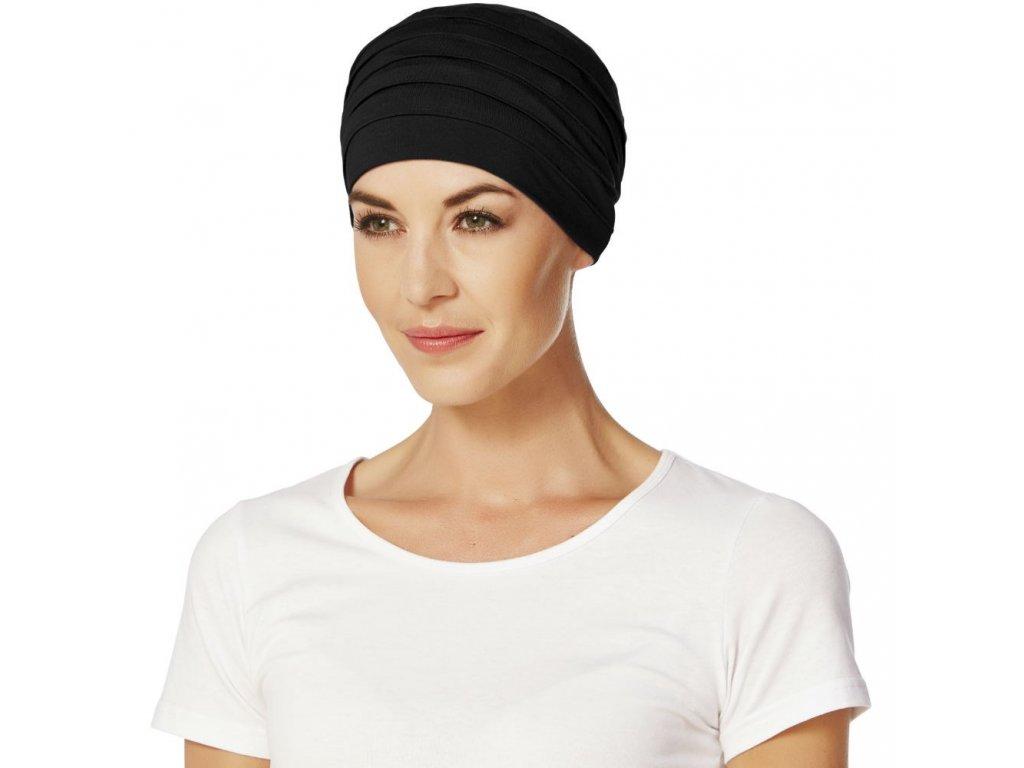 Turban Christine Yoga, vzor Black