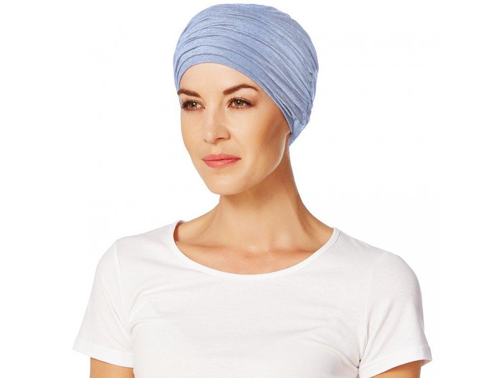 Turban Christine Karma, vzor Light Blue Melange