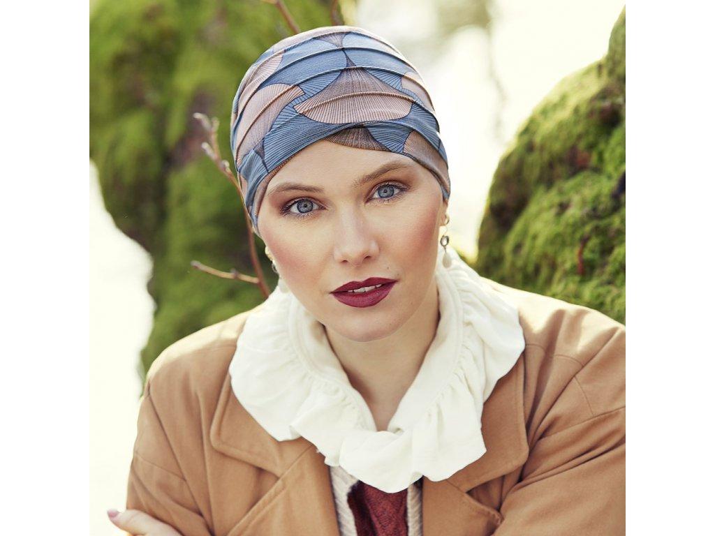 Turban Christine Yoga, vzor Autumn Illusions