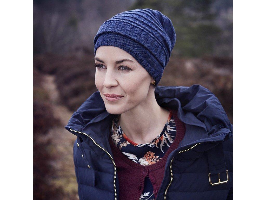 Čepice Christine Lumi, vzor Navy Melange