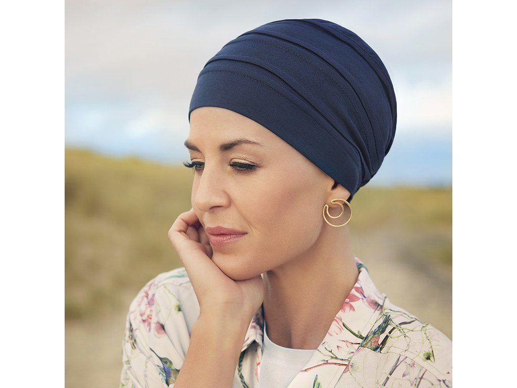 Turban B.B. Bea, vzor Dark blue