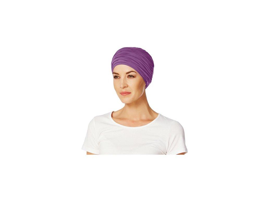 Turban Christine Karma, vzor Purple