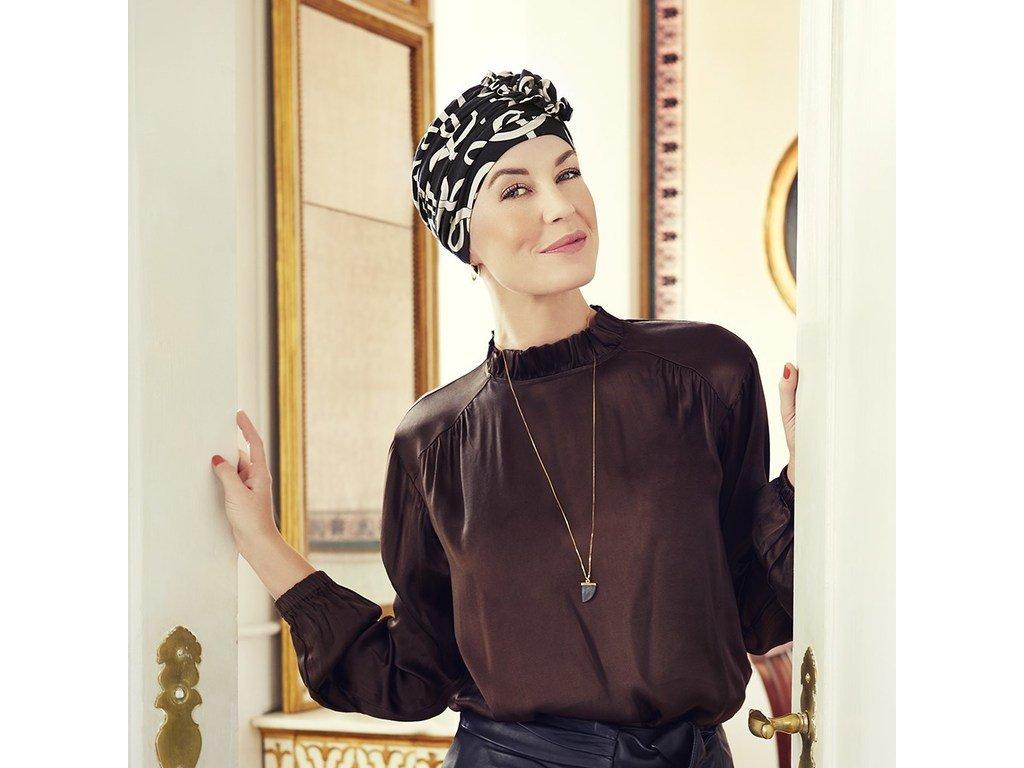 Turban Christine Lotus, vzor Classic Bows