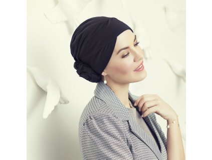 Turban Christine Zuri, vzor Black