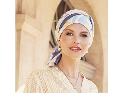 Turban Christine Beatrice, vzor Graphic Zebra