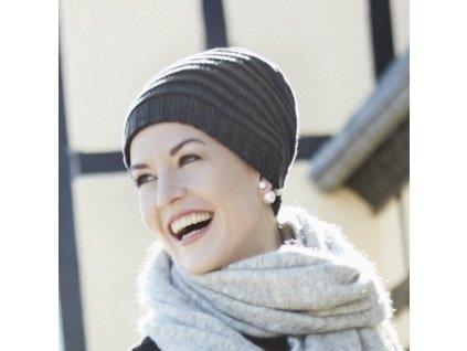 Čepice Christine Lumi, vzor Dark Grey melange