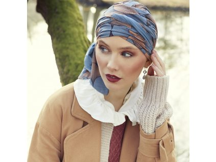 Turban Christine Beatrice, vzor Autumn Illusions