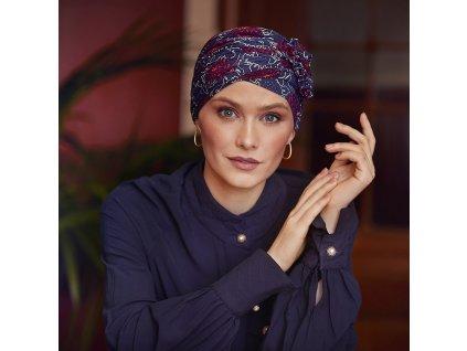 Turban Christine Lotus, vzor Artistic Autumn