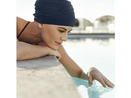 Koupací čepice Christine, vzor Dark blue