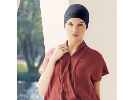 Turban Viva Laura, vzor Black Iris