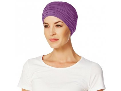 Turban Christine Karma, vzor Purple
