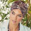 Turban Christine Boho Saphire, vzor Rococo Rose