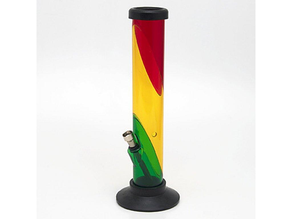 Bong acrylic Tube Striped 31 cm rasta