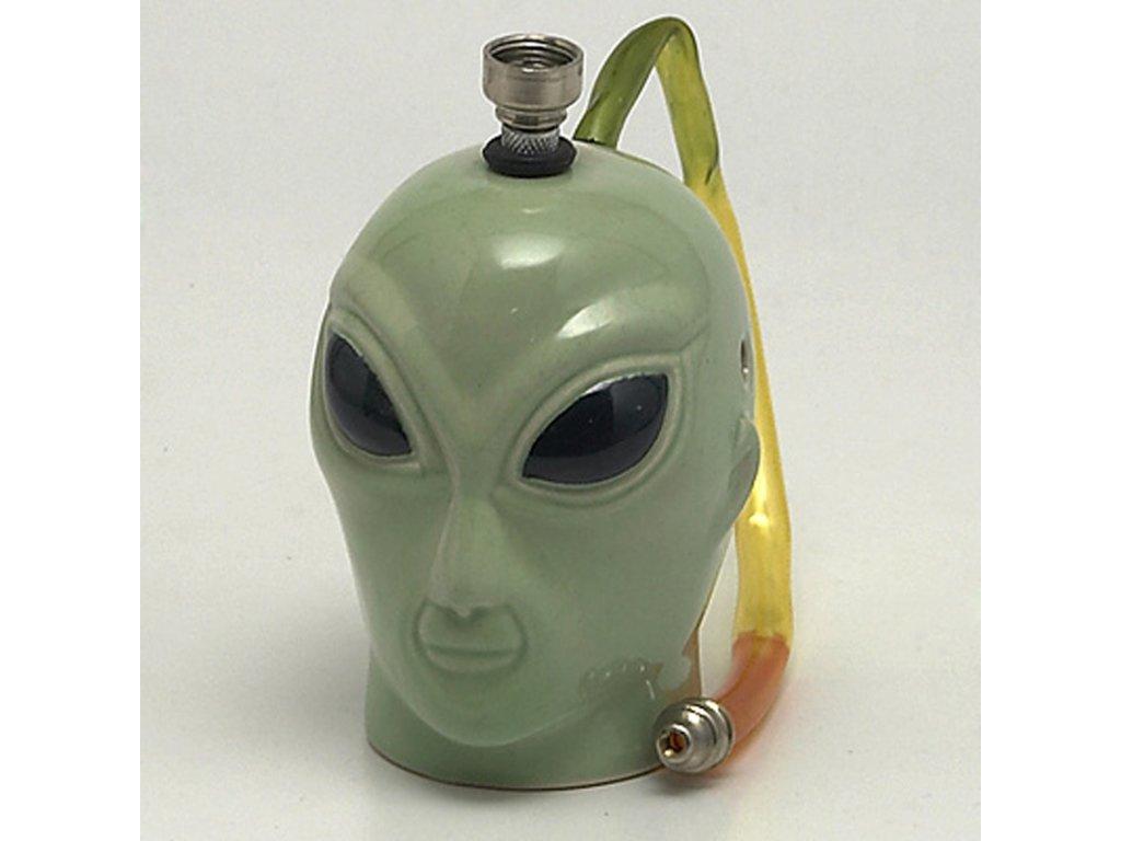 Bong keramika Alien I. 12 cm zelený