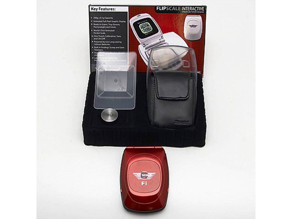 Digitální váha My Weigh Flipscale Fi 200 / 0,1 g červená