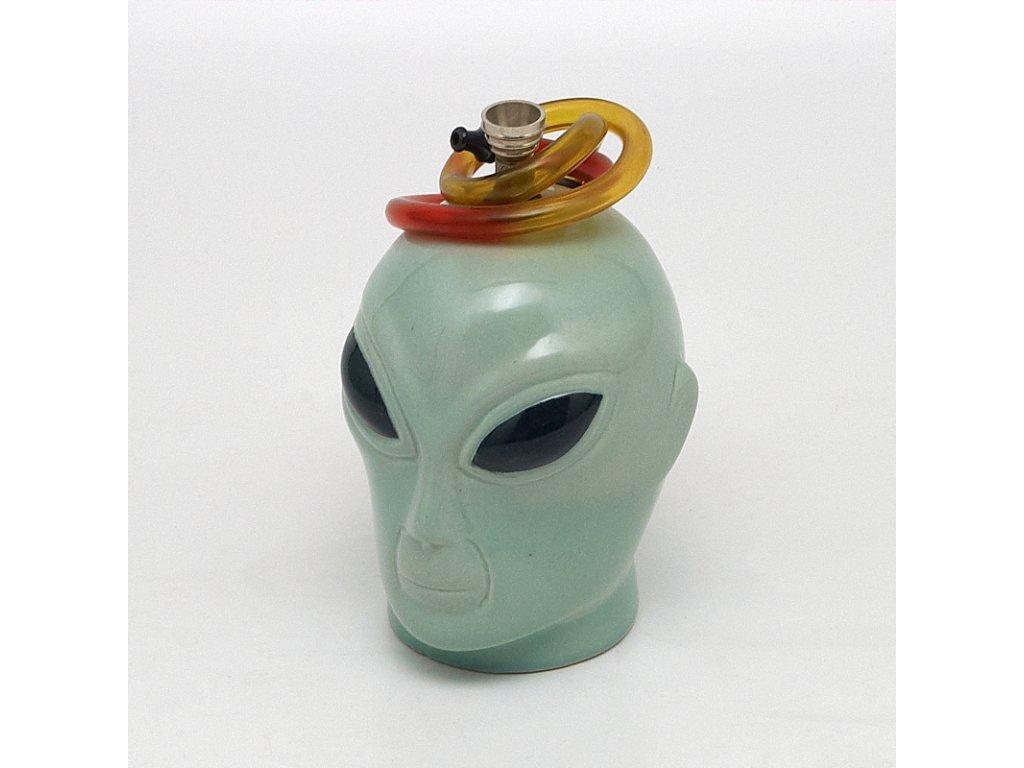 Bong keramika Alien I. 14 cm zelený