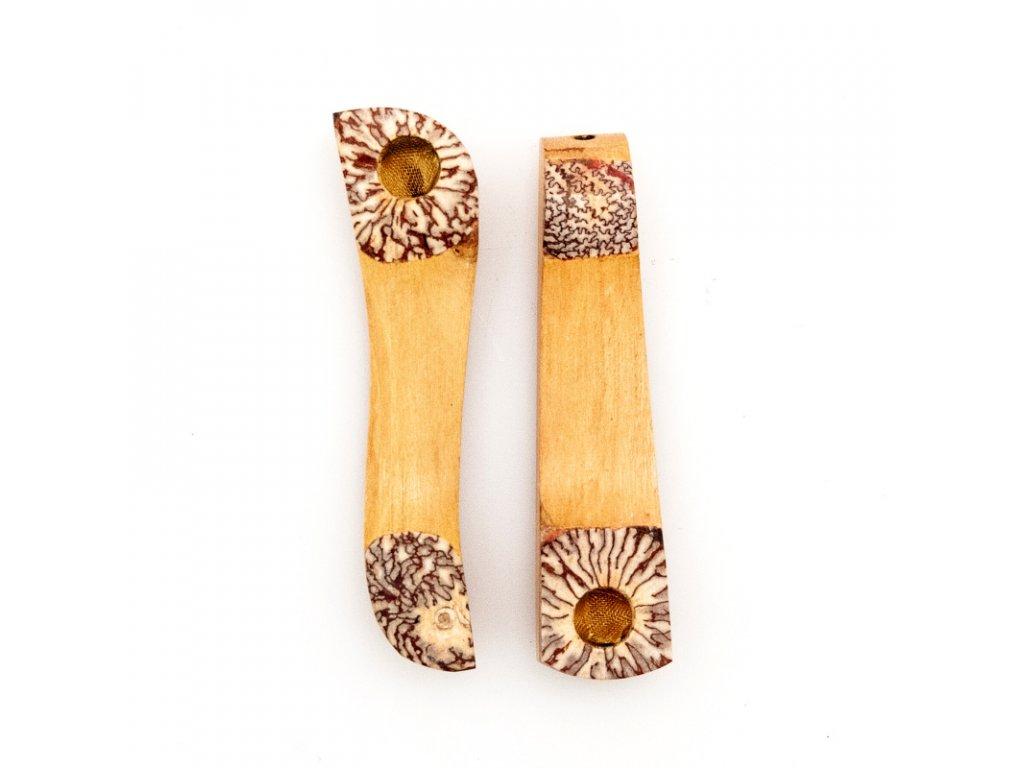 Šlukovka dřevo 8 cm kokos