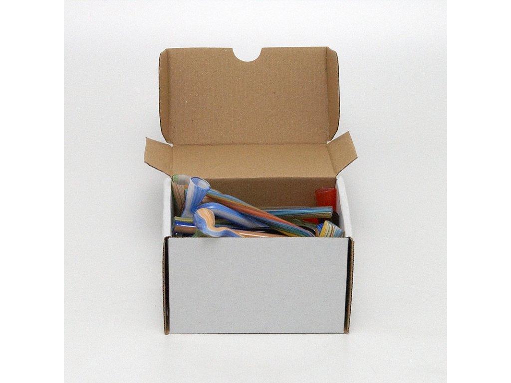 Skleněnka barevná Dagga 9 cm Box 25 ks