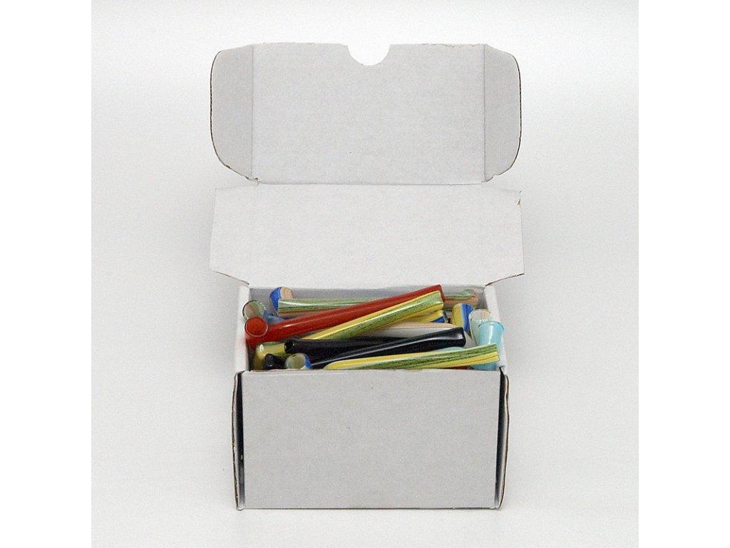 Skleněnka barevná Tráva 9 cm Box 40 ks