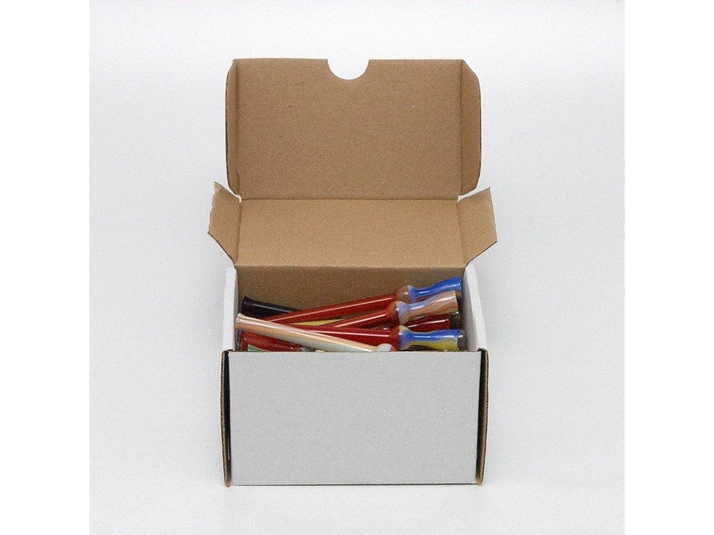 Skleněnka barevná Joint 10 cm Box 40 ks