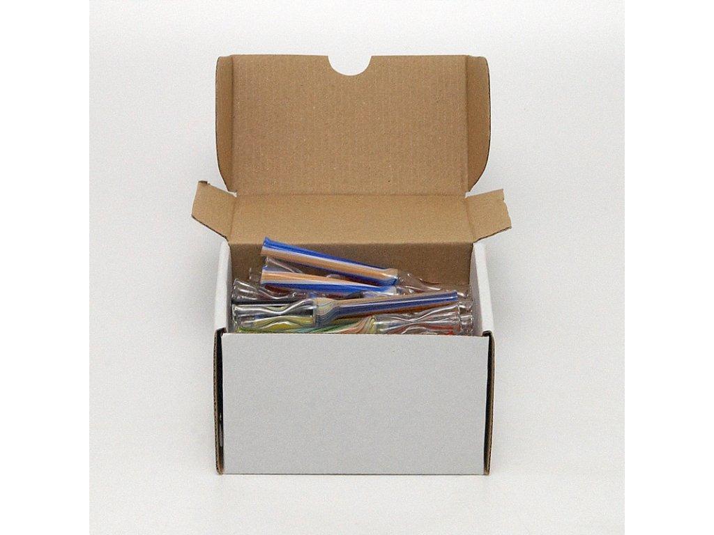Skleněnka barevná Roští 7 cm Box 30 ks