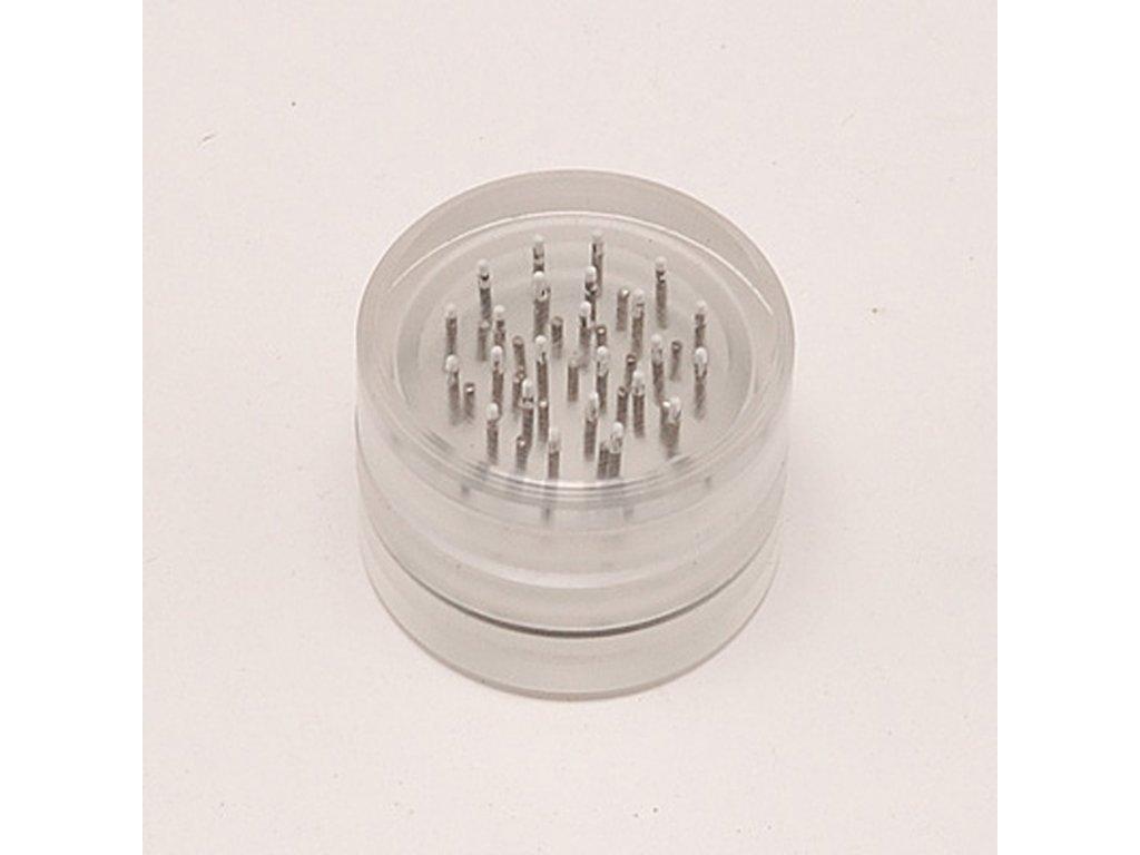 Drtička plastová Transparent 5,5 cm 3-dílná