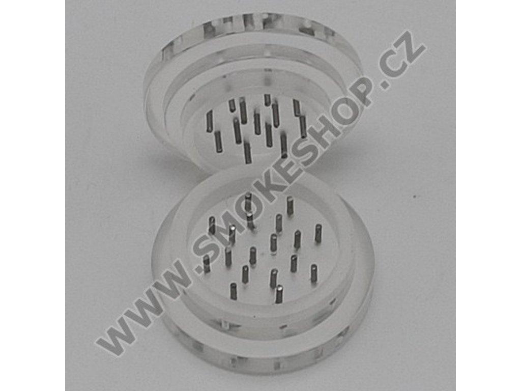 Drtička plastová Transparent 5,5 cm 2-dílná