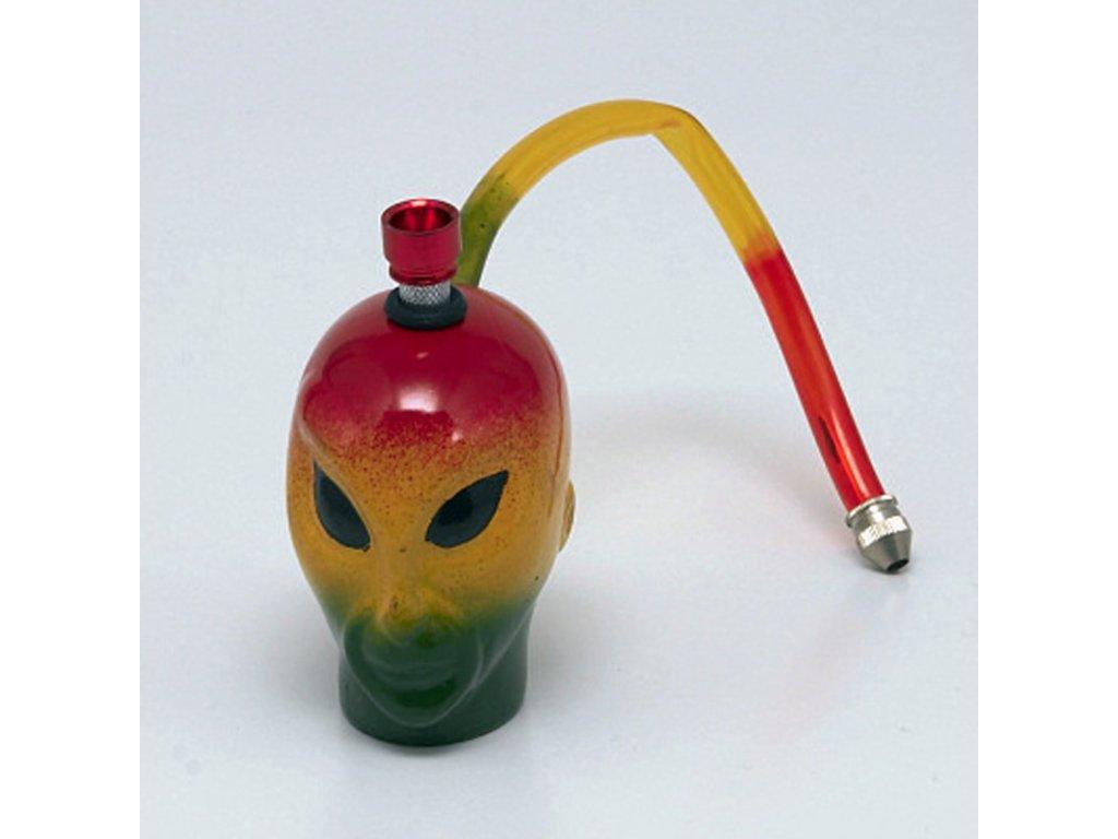 Bong keramika Alien I. 8 cm rasta