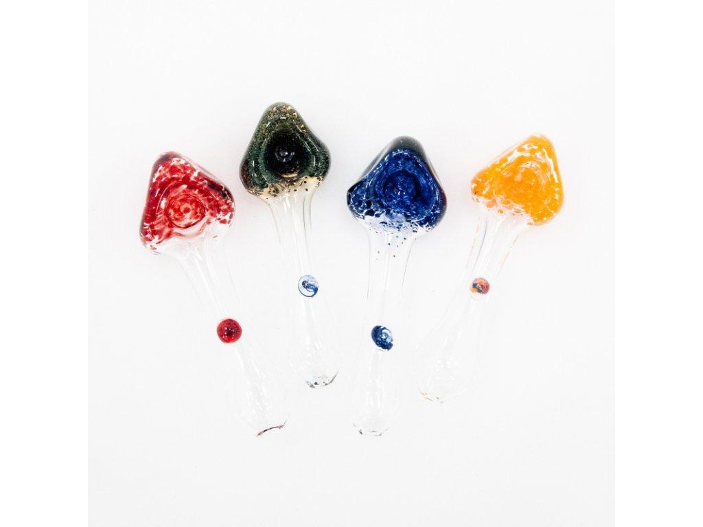 Šlukovka Pyrex Houba modrá - červená