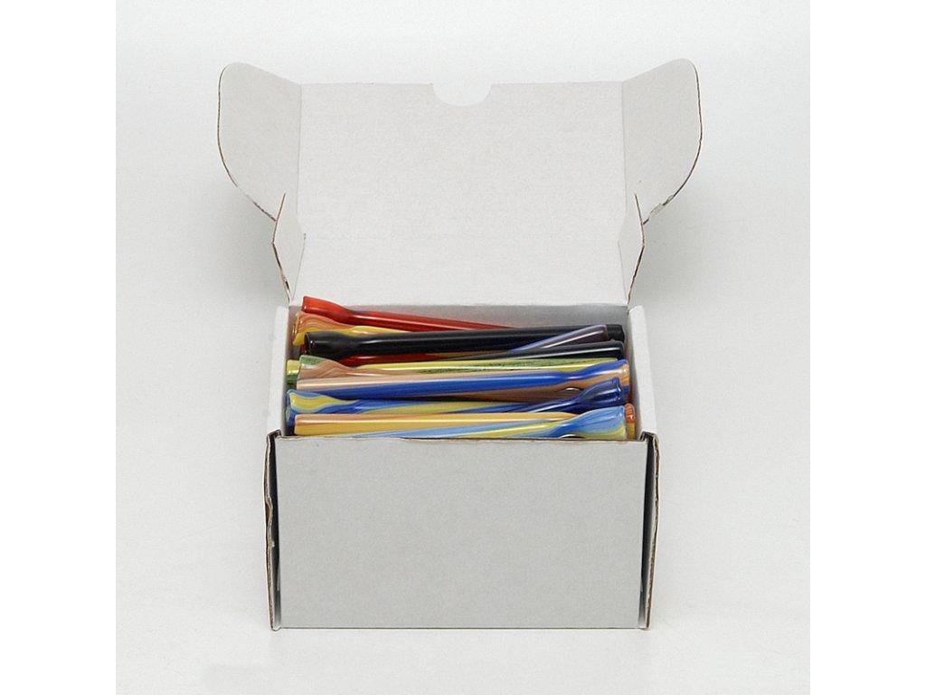 Skleněnka barevná Zelí 10 cm Box 50 ks