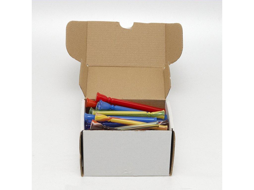 Skleněnka barevná Frutta 9 cm Box 50 ks