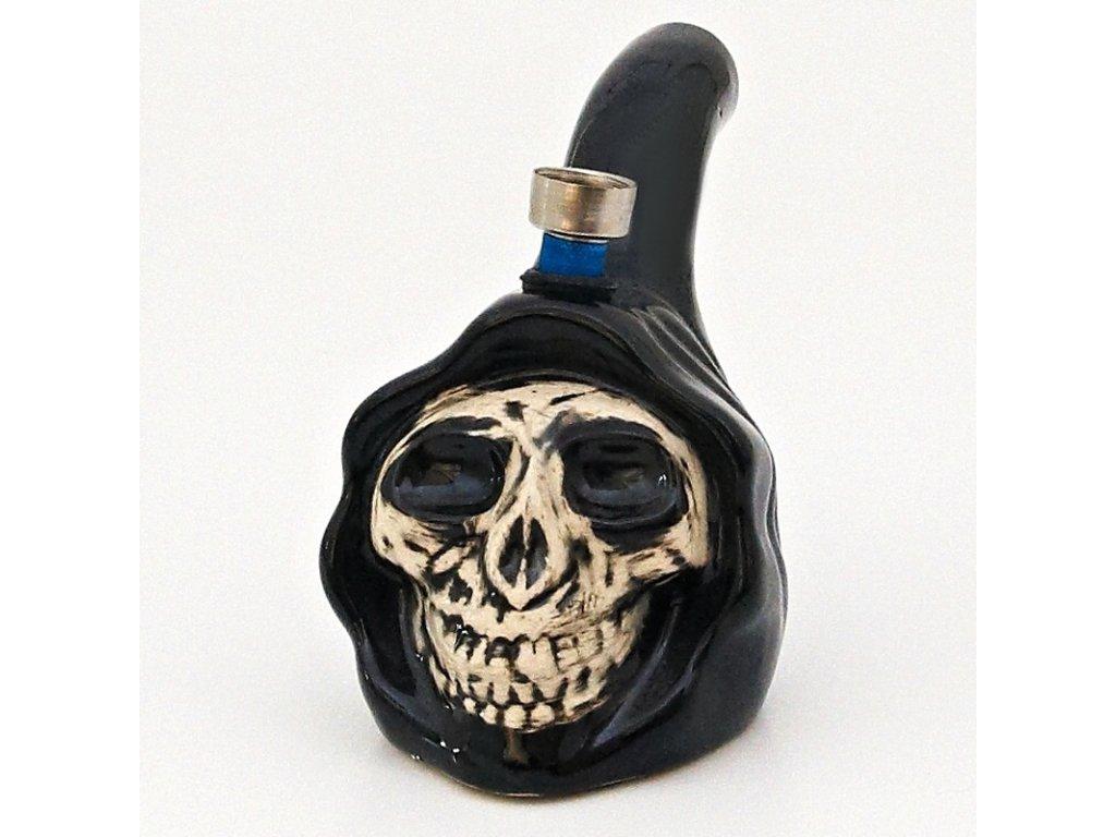 Bong keramika Lebka III. 9 cm černá