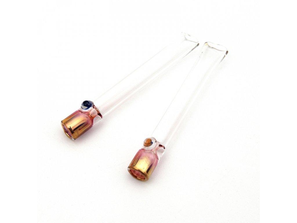 Skleněnka Pyrex Čilam Pink 8 cm s kuličkou úzká